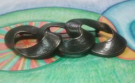 """Vintage Jewelry: 3 1/4"""" Heavy Brass Tone Brooch 180625 - $10.88"""