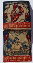 VINTAGE Giant Feature MATCHBOOK BOOKBINDER SEA FOOD 15th St.PHILADELPHIA... - $9.89