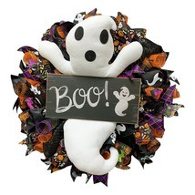 Halloween Wreath,Door Hanging Decor Halloween Ghost Wreath,Halloween Par... - £28.72 GBP