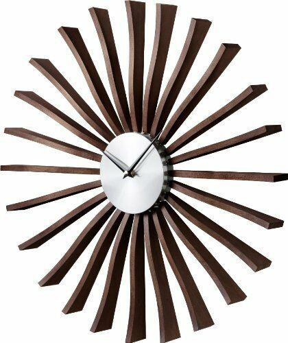 Primary image for GEORGE NELSON FLUTTER CLOCK Brown Designer From Japan New