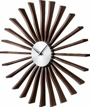 GEORGE NELSON FLUTTER CLOCK Brown Designer From Japan New - €221,74 EUR