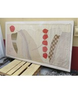 Mid Century deco Scandinavian Design ORIGINAL tapestry hand weaved knotted - $1,000.00