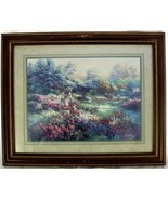 Lee K Parkinson Framed & Matted Picture Print Art Lady Picking Flowers 1990 - $39.59