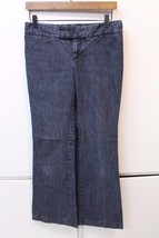 W13003 Womens GAP Gray HADLEY Denim BOOT CUT Jeans SIZE 4R - $30.86