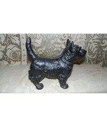 VINTAGE LARGE CAST IRON SCOTTISH TERRIER DOG BANK DOOR STOP - $84.10