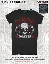 Soa Sons Of Anarchy Samcro Forever Sickle Skull Reaper Goth Junior T Shirt S-2XL - $20.05+