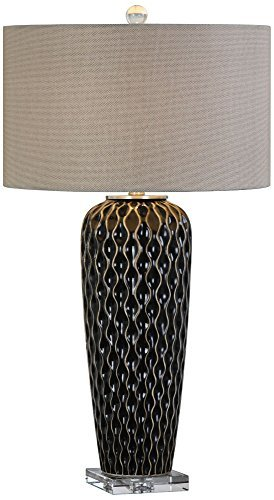 Primary image for Uttermost Patras Dark Mocha Bronze Serpentine Table Lamp