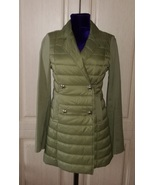Italian green womens collared crop coat  - $70.00