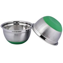 Kosma Set of 2 Stainless Steel Premium Extra Deep Mixing Bowls   Salad B... - €24,29 EUR