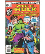 What If? Comic Book #2 The Hulk Had Brain of Bruce Banner Marvel 1977 FINE- - $5.24