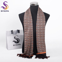 Winter Men Scarves Coffee Gold Fashion Accessories Warm Long Business Scarf - $12.80