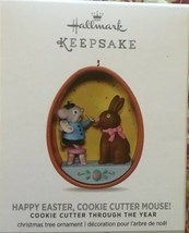 Hallmark Keepsake Happy Easter cookie Cutter Mouse Christmas Tree Ornament - $20.76