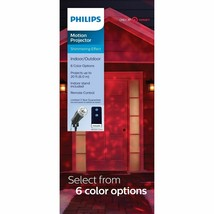 Philips Shimmering Pick-a-Color Remote Christmas LED Motion Projector NEW image 1