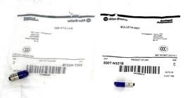 LOT OF 2 NEW ALLEN BRADLEY 800T-N321B SER. C BLUE LED LAMP 800TN321B