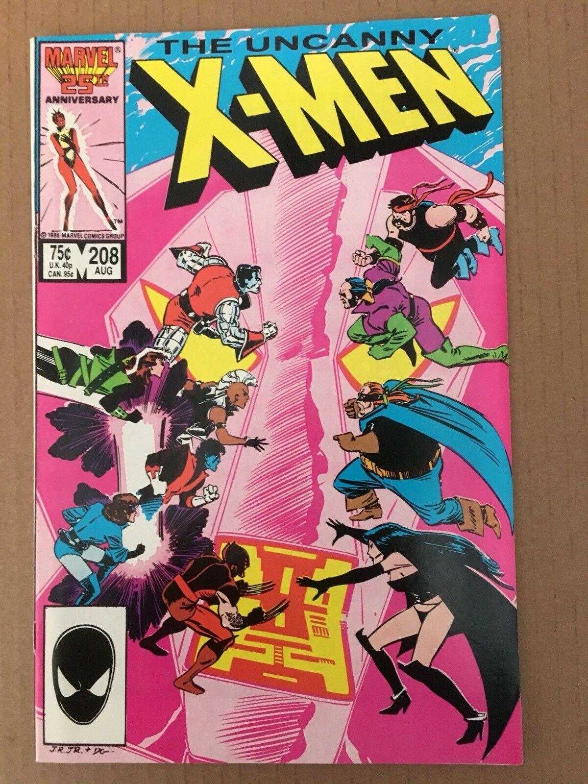 Uncanny X-Men 1st Series #208 1986 NM Condition Wolverine Marvel Comic Book