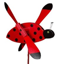 LADYBUG WIND SPINNER - Amish Handmade Whirlybird Weather Resistant Whirl... - $98.40 CAD