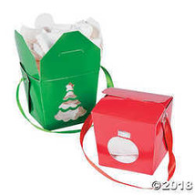 Christmas Take Out Boxes  - $10.24