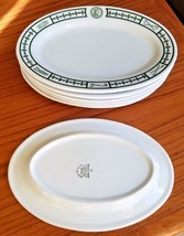 Set of 6 (six) Indian head motif design oval restaurant platters Burley ... - $67.61