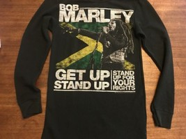 vtg Mens Zion Rootswear Bob Marley Get Up Stand Up Waffle L/S  T-shirt L... - $16.14