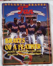 1992 Atlanta Braves Fan Magazine Vol 27 Number 3 - All-Star Game Smoltz,... - $12.55