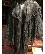 Antique Vintage Black Lace Shawl Wrap Caplet - $183.15