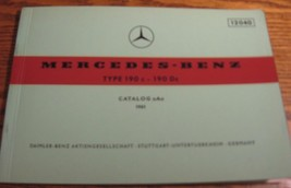 Mercedes-Benz Type 190c 190Dc Parts Catalog Manual 1961 - 1965  W121 196... - $65.84