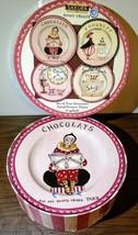 "New Set Sakura Sweet Treats Set of 4 Stoneware 8"" Dessert Plates Gracey ... - $17.81"
