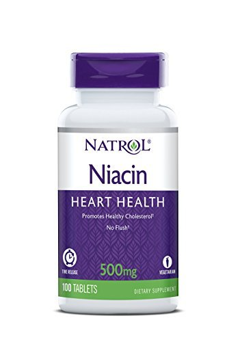 Natrol Niacin Time Release 500mg Tablets, 100-Count