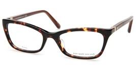 NEW Kate Spade DELACY RRW Havana Havana Eyeglasses Frame 50-16-130mm - $53.89