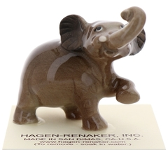 Hagen-Renaker Miniature Ceramic Wildlife Figurine Elephant Cartoon Baby Walking image 1