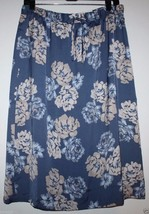 "Gap NWT Women's M Blue Floral Skirt - 27"" Long -w/ Fluid Drape - $41.03"