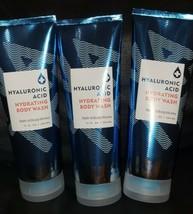 3 Bath & Body Works Water Hyaluronic Acid Hydrating Body Wash 10oz Each Lot  - $47.51