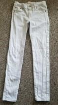 LEVI'S White Stretch Denim Super Skinny 710 Jeans Girls Size 8 Adjustabl... - $4.88