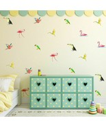 Wall Decor Stickers Birds Vinyl Removable Kids Bedrooms Nursery Wall Dec... - $14.49