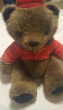 "Rare Vintage Dakin Bell Hop Bear Plush 1990 Stuffed Animal 15"" - $10.46"
