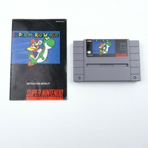Super Mario World Super Nintendo SNES Video Game Cartridge Manual Tested  - $23.64