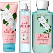 3 Pc Bath & Body Works Fresh Gardenia Set New. Body Mist, Cream & Gel - $28.04