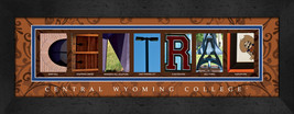 Central Wyoming College Officially Licensed Framed Campus Letter Art - $39.95