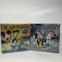 Disney Pictopia Picture Trivia Family Board Games 1000 Questions & Pictionary - $35.63
