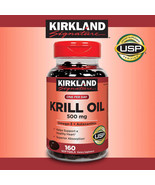 NEW Kirkland Signature Krill Oil 500 mg., 160 Softgels **FREE SHIPPING** - $33.99