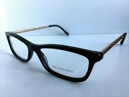 New BURBERRY B 9021 3001 52mm Black Gold Cats Eye Women's Eyeglasses Frame - $84.99