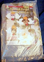 Animal Angel Ornaments Plastic Canvas Kit Cat Bear Bunny Puppy House White Birch - $24.99