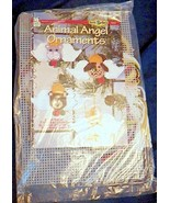 Animal Angel Ornaments Plastic Canvas Kit Cat Bear Bunny Puppy House Whi... - $24.99