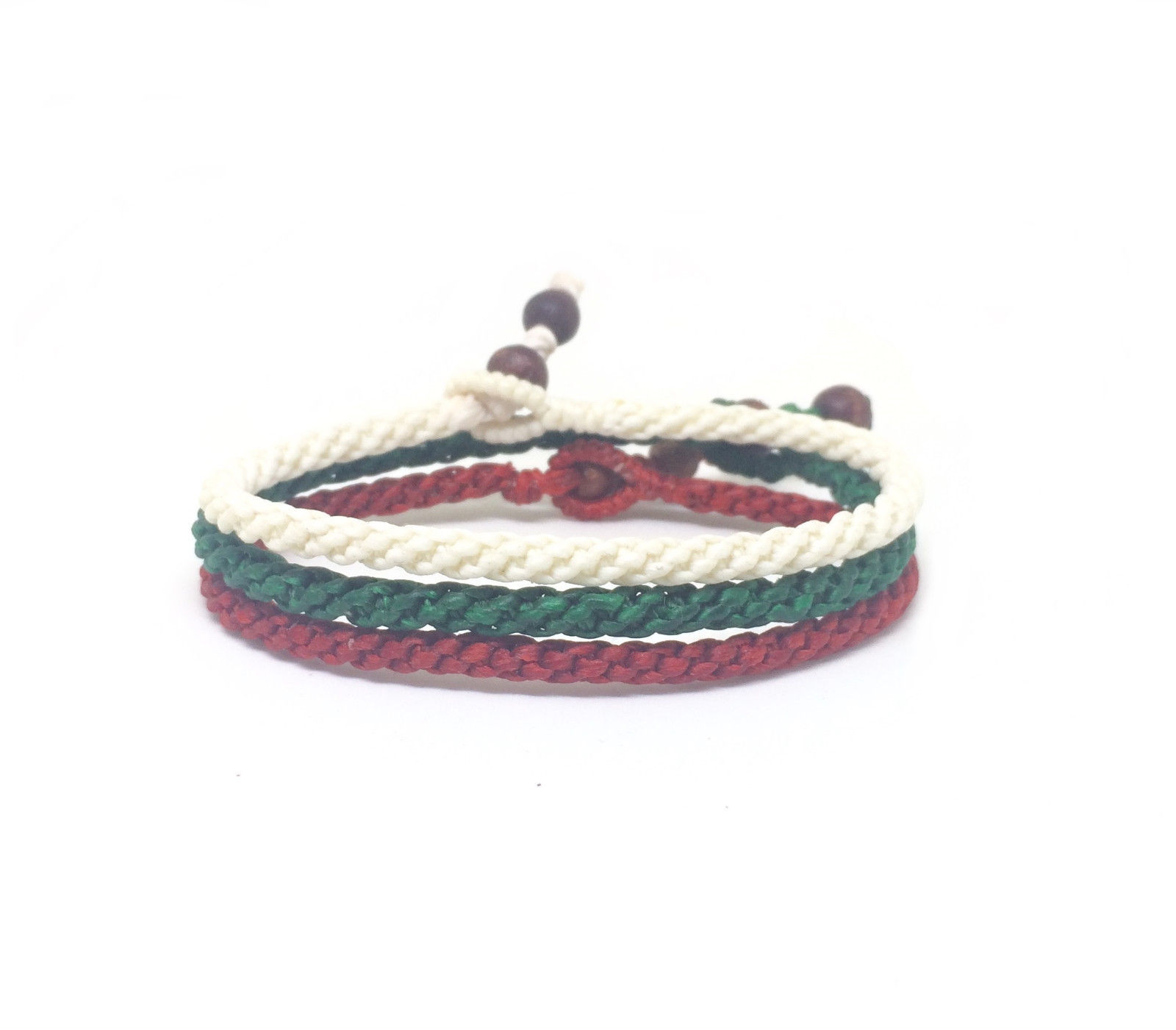 World Flags FAIR TRADE Wax COTTON Thai WRISTBAND Handcrafted Bracelet Wristwear