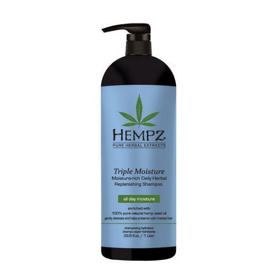 Hempz Triple Moisture Rich Daily Herbal Replenishing Shampoo  33.8oz
