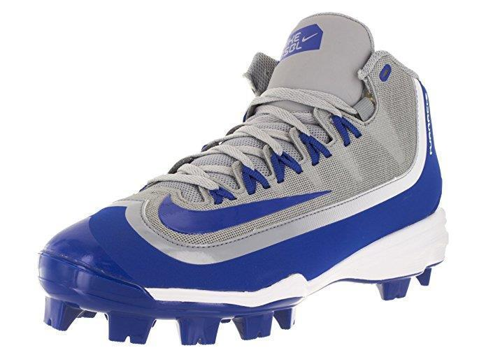 huge discount 9e790 cdd64 Nike Blue   Grey Alpha Huarache 2K Filth Mid Ankle Cover Baseball Cleats  Mens 12