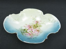 Bavarian China Germany Antique Porcelain Tray Lily Flowers Tray Hand Pai... - $29.00
