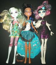 Lot of 3 Monster High Dolls  Robecca Steam, Lagoona Blue & Rochelle Goyle - $43.99