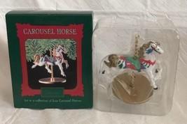 Vintage Hallmark Ornament Carousel Horse 1st In Series 1989 Collectible Snow Nib - $13.99