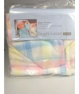 baby Blanket Pastel plaid snaps converts to baby bunting Bright Future b... - $115.13
